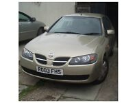 Nissan Almera 2003, Petrol and LPG 10 Months MOT £475 no offers, thank you