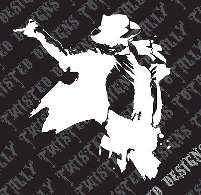 Michael Jackson silhouette car truck vinyl decal sticker cool bad thriller
