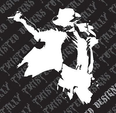 Michael Jackson silhouette car truck vinyl decal sticker cool bad thriller