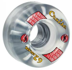 KRYPTONICS-Cruzero-Transparente-Ruedas-De-Skate-62mm-78a-Kryptos