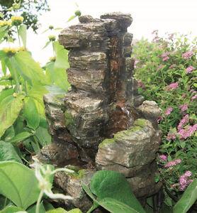 Ubbink Gartenbrunnen Wasserfall Chios mit Pumpe und Anschluss, NEUWARE