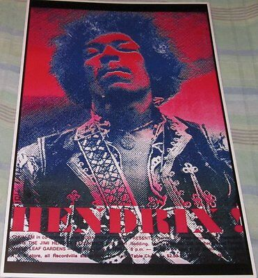 JIMI HENDRIX 1969 TORONTO FAMOUS (BUST SHOW) REPLICA CONCERT POSTER
