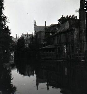 BRUGES c. 1900 - Le Franc Belgique Grand Négatif - FD 293 - France - Belgique . . Grand négatif film, 85 mm x 85 mm. . - France