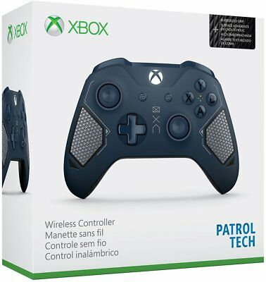 Microsoft Xbox One Wireless Controller Patrol Tech Special Edition Blue   In Box