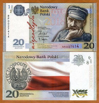 PRICE LIST of polish banknotes  Milczak 2018 NEW