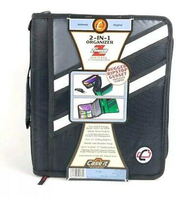 Case-it Z-binder Two-in-one 1.5 3 Ring Zipper Binder Black Z-176 The Z