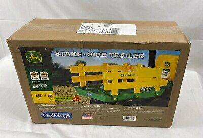 John Deere Stake Side Trailer Accessory Peg Perego Kids Ride On Toys New Gift