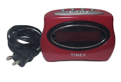 Timex T101 T101R Extra Loud LED Alarm Clock Electric with Backup Battery