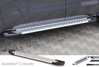 Mercedes W 164 ML 06+ Trittbretter Seitenschweller Artemis Silver Trittbrett