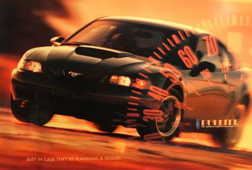 2001 Bullitt Mustang Poster