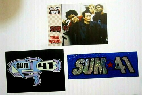 Sum 41 Lot of Sticker and Postcards