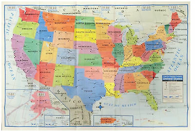 TEACHER CLASSROOM MAP OF THE UNITED STATES  easy store fold up learning poster](The Teachers Store)