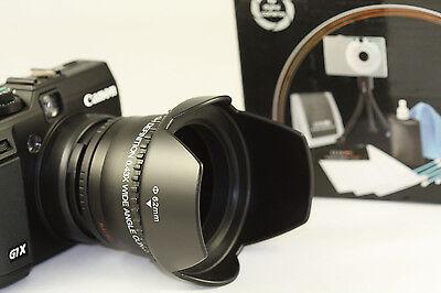 Professional Fisheye Wide Angle 0.43x Lens Kit For Canon Powershot Sx400 Camera