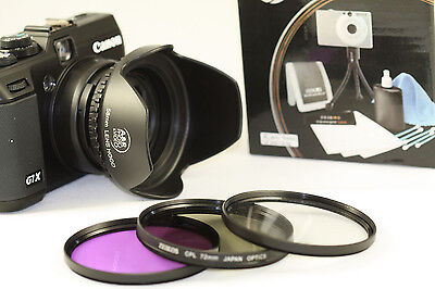 High Resolution Filter Kit For Panasonic Dmc-fz70 With Adapter Ring + Hood Fz72