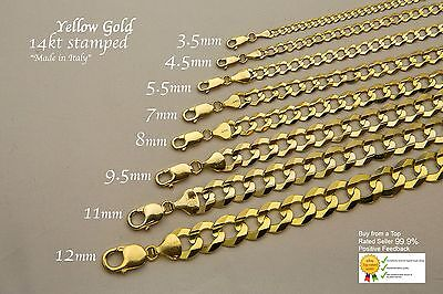 14k Solid Bracelet (GOLD AUTHENTIC 14K SOLID GOLD MEN/WOMEN CUBAN LINK BRACELET SZ  7-9)