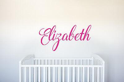 Baby Room Art Decor (Name - Vinyl Decal Wall Art Decor for Nursery Children Girls Baby Room v3 )