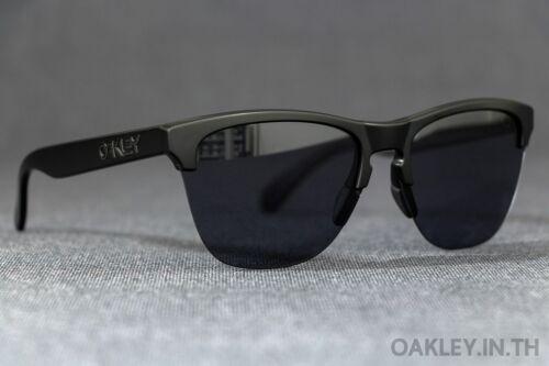 Oakley FROGSKINS LITE Sunglasses OO9374-0163 Matte Black Frame W/ Grey Lens