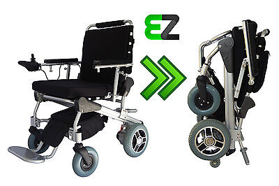 EZ Lite Cruiser Deluxe DX10 Light Folding Electric Wheelchair - 15 Ah Battery