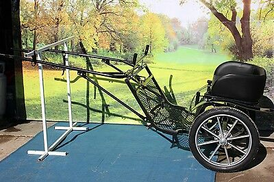Brand new mini size horse drawn SPECIAL EDITION easy entry cart - brakes, shocks