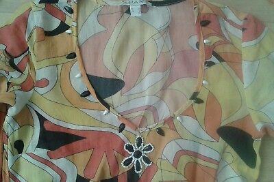 APART Kleid Hippie Größe 34 Stirnband Gürtel 70 - Hippie Kleider Kostüm