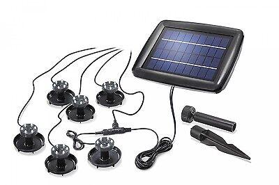 6er Set LED Solar Teichbeleuchtung Teichstrahler Unterwasserstrahler Teichlampe
