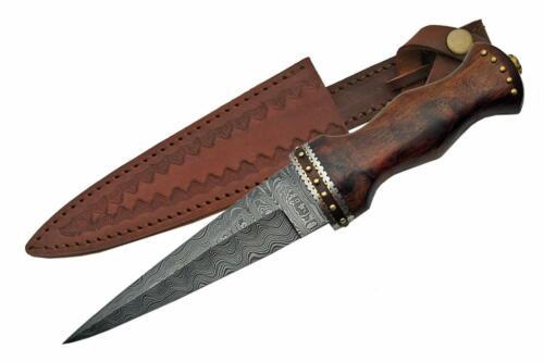 """Celtic Scottish - Genuine Damascus Sgian Skean Dubh Dirk Dagger 12.5"""" Knife"""