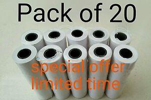 Pack of 20. Kane flue gas analyser thermal printer paper tp5 Anton and Testo.