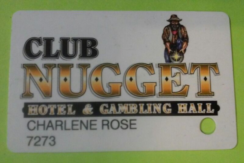 NUGGET CASINO PAHRUMP, NV. MINER LOGO ACC SLOT PLAYERS CARD GREAT FOR COLLECTION