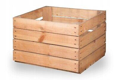 2,4,6 BRIGHT SOLID Wooden Crates Set Fruit Apple Boxes Home Decor Vintage