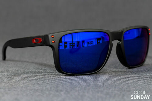 Oakley Holbrook Sunglasses OO9102-36 Matte Black W/ Positive Red Iridium 57MM