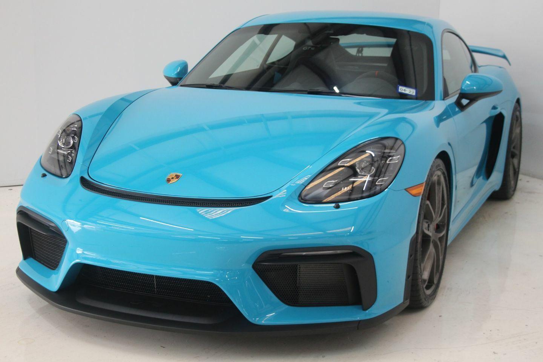 2020 Porsche 718 Cayman GT4 197 Miles Blue Coupe 6 Automatic