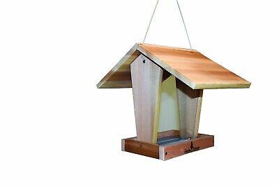 Garden Artworks Extra Large Cedar Bird Feeder-Helps Keep Seed Dry