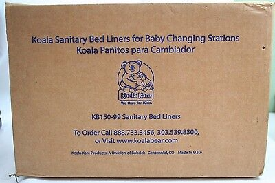 Koala Sanitary Bed Liners for Baby Changing Stations KB150-99 Qty: 500, 13x18 in