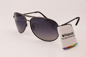 Polaroid Designer Sunglasses- P4039 A3X- Gun Metal Frame- Polarized Grey Lens