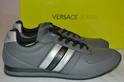 Versace Jeans Linea Coated Runner Trainers Grey Size UK 7 EU 42 RRP £119