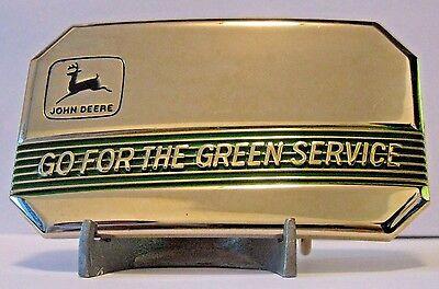 1990 John Deere 2 Leg Deer Logo Go FOR The Green Service Belt Buckle Ltd Ed #32