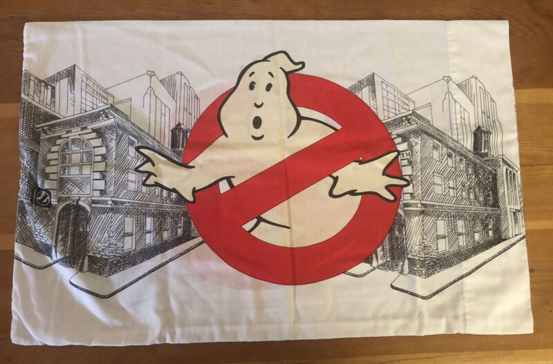 Vintage The Real Ghostbusters 80s 1980s Pillowcase Glow In The Dark DOUBLE SIDED