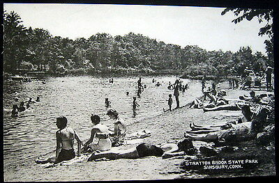 Simsbury Connecticut   1920S  Stratton Brook State Park   Swimming  Bathing