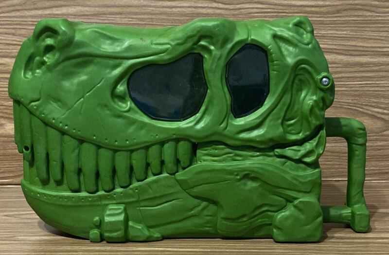 Jurassic Park T-Rex Lunchbox Head Flip Open Jaws Tyrannosaurus Rex Green Rare