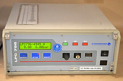 Test Vac (H SCHREINER LPC 796 - 4945A Leck-Messcomputer Lecktester 230VAC LEAK DETECTOR)