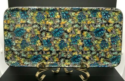 "Antique Grimwades Royal Winton ""BIG FLOWERS & LEAVES"" Chintz Large Dresser Tray"