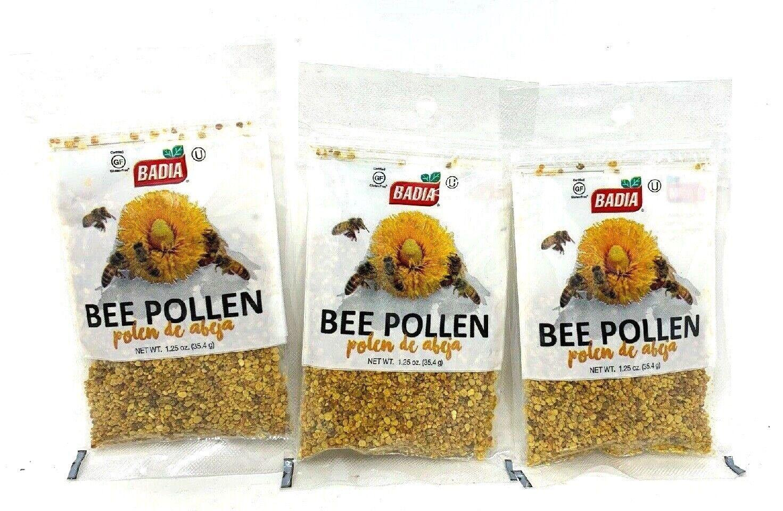 3 X  bolsas BEE POLLEN granulado pure/polen de Abeja Granulado Kosher 3x1,25 oz