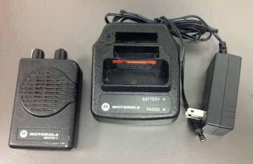 Motorola Minitor 5 Pager, Model # A03KMS9238BC, VHF, 1 CH SV, Charger, USED BAT