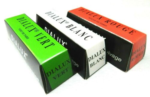 Dialux Rouge Jewelers Rouge Polishing Gold & Silver Compound Set Green White Red
