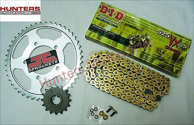 Kawasaki ZX6R J1 & J2 2000 to 2002 DID Gold X-Ring Chain & JT Sprocket Kit Set