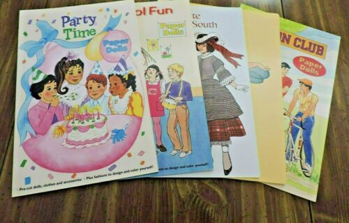 PAPER DOLL BOOKS.  LOT OF FIVE ASSORTED THEMES.  NEW, UNCUT...