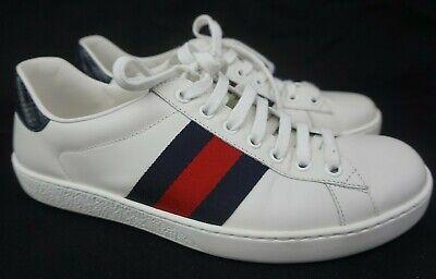 fd48c1b95 Gucci Men's White Ace Clean Leather Low Top Sneakers Men's Shoes Size 6 G /  7
