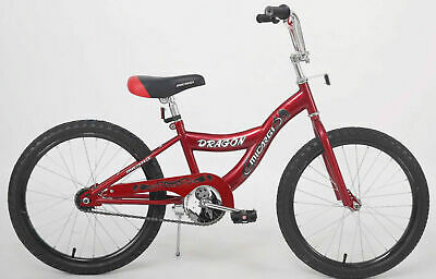 "Red Kids BMX Bike Boys Bicycle Ride 20"" Wheels Black Cycle"