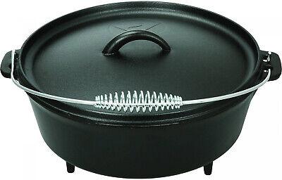 5 quart Dutch Oven Lid Pre Seasoned Cast Iron Pot Bake Fry Stew Top Quality NEW
