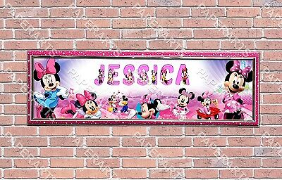 Personalized Customized Minnie Mouse Name Banner Wall Decor Poster with Frame ](Minnie Mouse Personalized Banner)